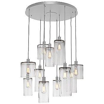 Clear Glass / Metallic Beige Silver finish / 11 Light