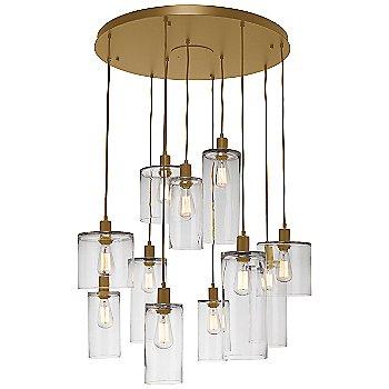 Clear Glass / Gilded Brass finish / 11 Light