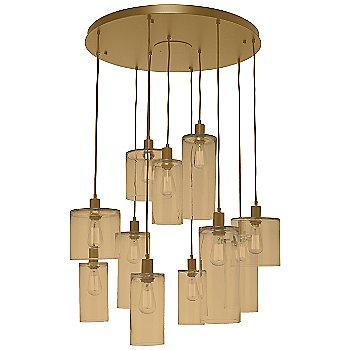 Bronze Glass / Gilded Brass finish / 11 Light