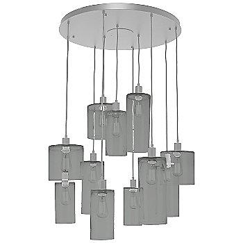 Smoke Glass / Metallic Beige Silver finish / 11 Light