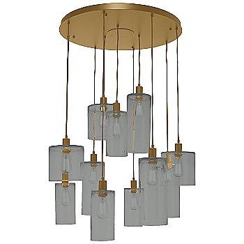 Smoke Glass / Gilded Brass finish / 11 Light