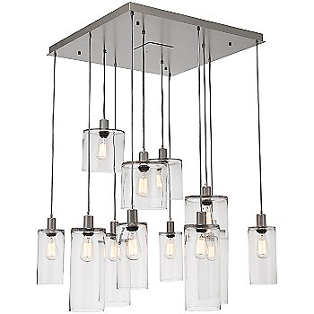 Clear Glass / Metallic Beige Silver finish / 12 Light