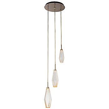 Heritage Brass finish / Optic Rib Amber Glass / 3 LIght