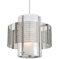 Downtown Mesh Double Drum Pendant Light