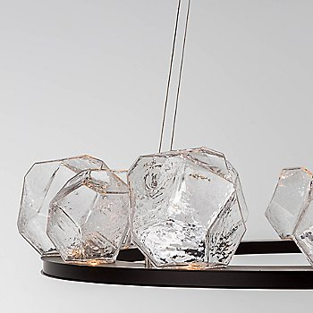 Clear glass / Matte Black finish
