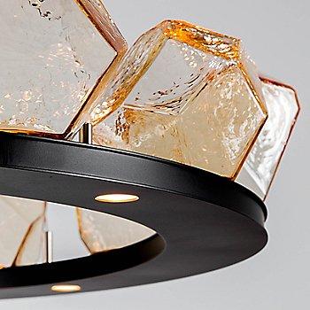 Amber glass / Matte Black finish