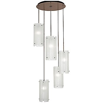 Frosted Granite shade / Metallic Beige Silver finish / 5 Light