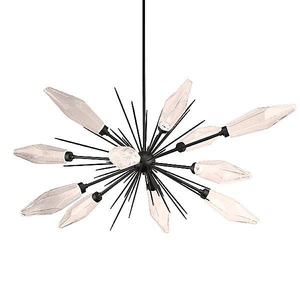 Rock Crystal Oval Starburst LED Chandelier
