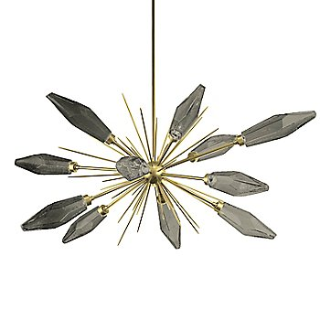 Heritage Brass finish / Chilled Smoke glass color