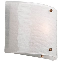 Textured Glass Wall Sconce