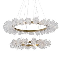 Blossom Two Tier LED Ring Chandelier