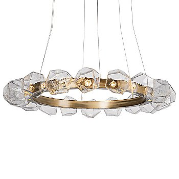 Clear Shade / Gilded Brass finish / 48 Inch size