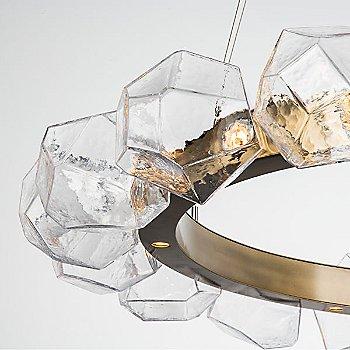 Clear Shade / Gilded Brass finish / illuminated