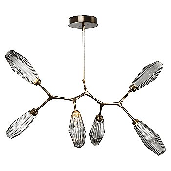 Optic Rib Smoke Shade / Herritage Brass finish / 6 Light / not illuminated