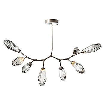 Optic Rib Smoke Shade / Metallic Beige Silver finish / 8 Light / not illuminated