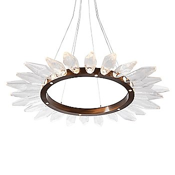 Chilled Clear Shade / Oil Rubbed Bronze finish / 56 Inch size