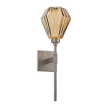 Metallic Beige Silver finish, Optic Rib Amber Shade color