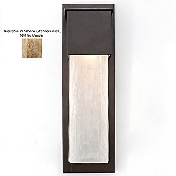 Outdoor Short Square Wall Sconce (Smoke/Black) - OPEN BOX