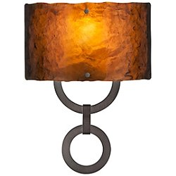 Carlyle Round Link Glass Wall Sconce