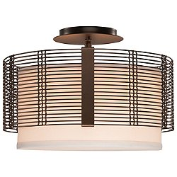 Downtown Mesh Semi Flush-Mount Ceiling Light