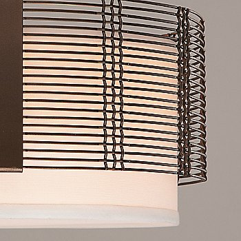 Flat Bronze finish / Detail view / illuminated