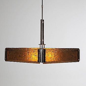 Satin Nickel finish / Bronzed Granite shade