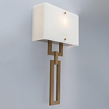 Gilded Brass finish / Ivory Wisp shade