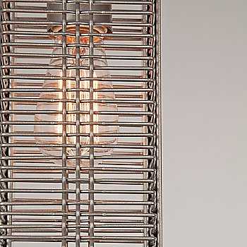 None, Exposed shade / Metallic Beige Silver finish / illuminated / Detail view