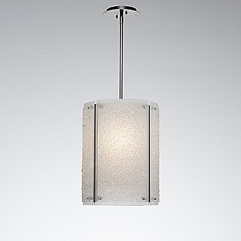 Metallic Beige Silver finish / Frosted shade