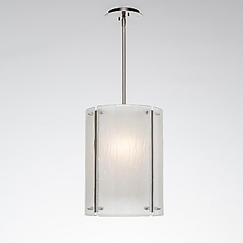 Metallic Beige Silver finish / Frosted Granite shade