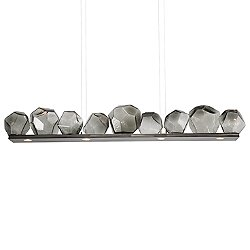 Gem Bezel LED Linear Suspension Light