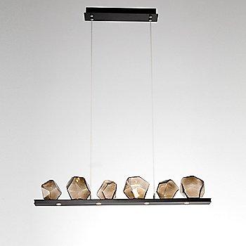 Matte Black finish / Bronze Glass shade / 6 Light