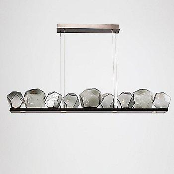 Flat Bronze finish / Smoke Glass shade / 9 Light, illuminated