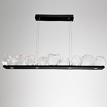 Matte Black finish / Clear Glass shade / 9 Light