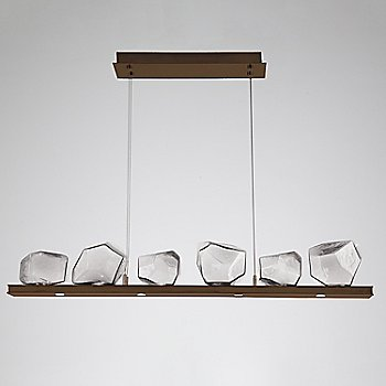 Clear Glass shade / Oil Rubbed Bronze finish / 6 Light