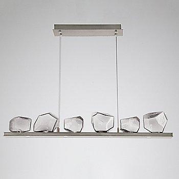 Clear Glass shade / Metallic Beige Silver finish / 6 Light