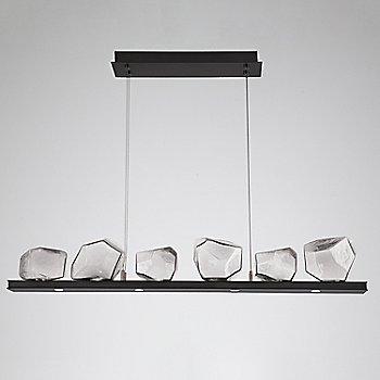 Clear Glass shade / Matte Black finish / 6 Light