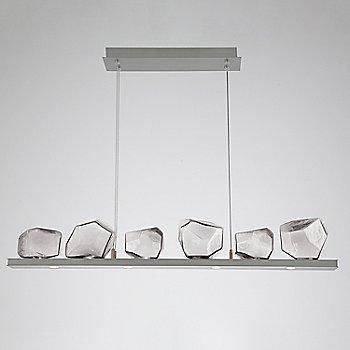 Clear Glass shade / Satin Nickel finish / 6 Light