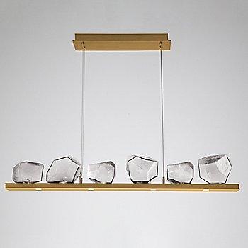 Clear Glass shade / Gilded Brass finish / 6 Light