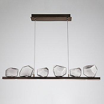 Clear Glass shade / Flat Bronze finish / 6 Light