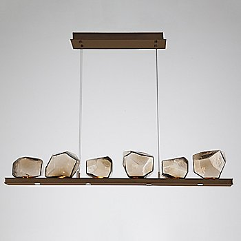 Bronze Glass shade / Oil Rubbed Bronze finish / 6 Light
