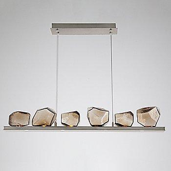 Bronze Glass shade / Metallic Beige Silver finish / 6 Light