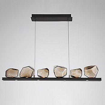 Bronze Glass shade / Matte Black finish / 6 Light