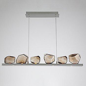 Bronze Glass shade / Satin Nickel finish / 6 Light