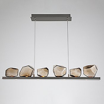 Bronze Glass shade / Gunmetal finish / 6 Light