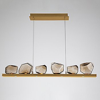 Bronze Glass shade / Gilded Brass finish / 6 Light