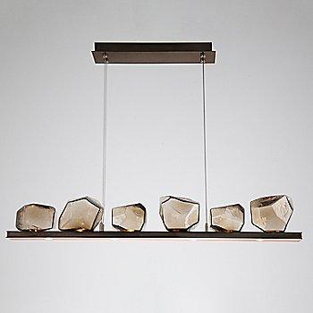 Bronze Glass shade / Flat Bronze finish / 6 Light