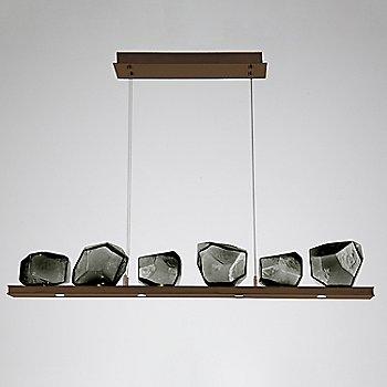 Smoke Glass shade / Oil Rubbed Bronze finish / 6 Light