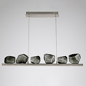 Smoke Glass shade / Metallic Beige Silver finish / 6 Light