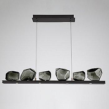 Smoke Glass shade / Matte Black finish / 6 Light